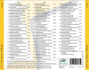 cd_inlay_hinten_Der_Flachgau_erklingt, Aufnahmen, 60 Jahre Flachgauer Blasmusikverband, Der Flachgau erklingt, CD