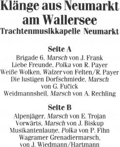 MC_Klaenge_aus_Neumarkt_am_Wallersee_Innenseite, Aufnahmen, Klänge aus Neumarkt am Wallersee, 1987, Neumarkt am Wallersee, Musikkasette