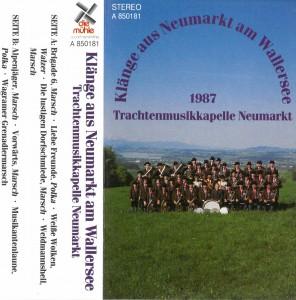 MC_Klaenge_aus_Neumarkt_am_Wallersee_Vorderseite, Aufnahmen, Klänge aus Neumarkt am Wallersee, 1987, Neumarkt am Wallersee, Musikkasette